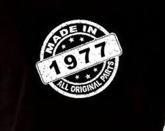 Znalezione obrazy dla zapytania made in 1977 t shirt