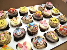 Winnie the Pooh Baby Shower Cupcakes by Cutie Cakes