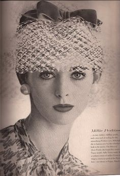 Sally Victor hat with lace veil