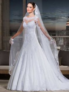 vestidos-de-noiva-com-veu-baratos