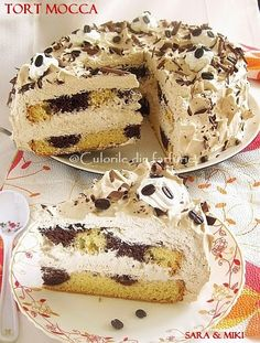 Tort Mocca Delicious Cake Recipes, Healthy Dessert Recipes, Raw Food Recipes, Fun Desserts, Sweet Recipes, Baking Recipes, Yummy Food, Food Cakes, Cupcake Cakes