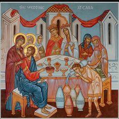 """""""wedding at cana painting""""的图片搜索结果 Religious Images, Religious Icons, John Chrysostom, Wedding Icon, Orthodox Wedding, Catholic Art, Kimberly Williams, Jesus Cristo, Orthodox Icons"""