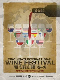 Cincinnati International Wine Festival Poster 2014