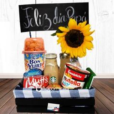 Father's Day Breakfast Surprise Happy Father's Day rnrnSource by flormwork Birthday Box, Birthday Gifts, Birthday Surprise For Husband, Food Bouquet, Party In A Box, Love Craft, Pink Candy, Love Gifts, Boyfriend Gifts