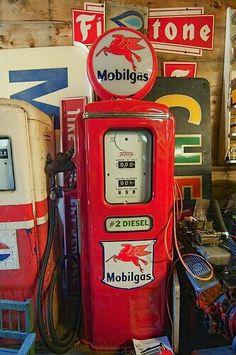 pompe à essence rétro