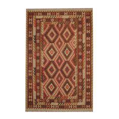 Herat Oriental Afghan Hand-woven Tribal Vegetable Dye Kilim / Rust Rug