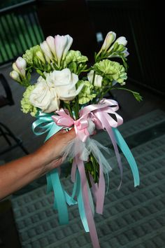 """""""Fortune Bouquet"""" - there were 5 small bouquets in this.  Great surprise for the throw away bouquet!"""