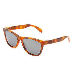 Oakley Frogskins Sunglasses Acid Tortoise Orange Frame Black Iridium Polarized