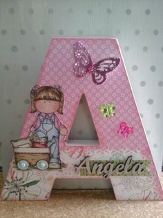 Best 12 Decoupage on a cardboard letter A – SkillOfKing. Decoupage Letters, Diy Letters, Letter A Crafts, Wood Letters, Crafts To Make, Fun Crafts, Paper Crafts, Christmas Gifts For Mom, Gifts For Kids