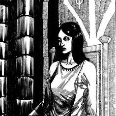 #viñeta #comic #historieta #bw #vampire #girl My Arts, Instagram, Illustration, Character Design, Illustrations, Wine