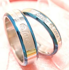 his and hers promise ring sets, Engagement Couple Stainless Steel Forever Love Rings Lovers,men women