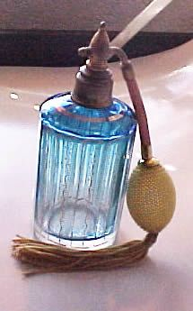 Very Old Victorian Cut Crystal Czech Perfume Atomizer