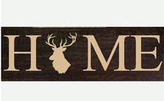 HOME wooden wall hanging sign with Animal by RachelsVinylCrafts