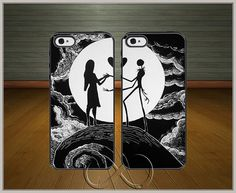 jack and sally case, Nightmare Before Christmas phone case, Love-The-Nightmare-Before-Christmas Best Quality Case for iPhone, samsung galaxy