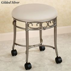 [gallery On this section, we will discuss about one antique and stylish design of furniture, it is about vanity stool. Vanity stool is kind of chair but smaller in size. Bathroom Vanity Chair, Vanity Bench, Bathroom Stools, Vanity Chairs, Home Design, Traditional Dressing Tables, Stool With Wheels, Beach Lounge Chair, Home