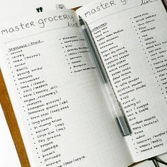 One of the most helpful lists in my #travelersnotebook #bulletjournal: the master grocery list. _______________ I got this idea from Kim at @tinyrayofsunshine. On this master grocery list (there are four pages, I'm just showing two!) are things I usually buy from the supermarket. Before my weekly grocery shopping, I go through the list to identify the things I had run out of. Then, I create my weekly grocery list. This list saves me a lot of pain because having an item on the list means I…
