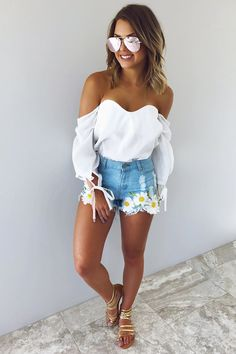 Steal My Love Blouse: White