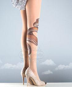 Les collants Tattoo serpent de couleur nude une par tattoosocks