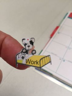 Planner stickers Nurse work Bear fits Erin by sisscreations
