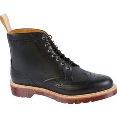 $167, Dr. Martens Bentley Brogue Boot Polished Smooth Boots. Sold by Shoebuy. Click for more info: https://lookastic.com/men/shop_items/278607/redirect