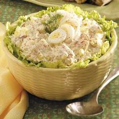 """Dilly Potato and Egg Salad ~ Submitter says: """"Everyone has a favorite potato salad, and this is mine. I hope you will be adventurous and give it a try. I've had lots of compliments and requests for the recipe when I make it for summertime gatherings."""""""
