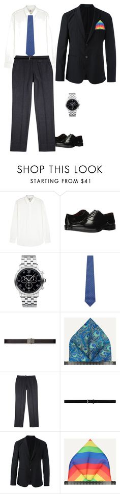 """At the prizes"" by jesica-d-psc on Polyvore featuring Kent & Curwen, Massimo Matteo, Montblanc, Yves Saint Laurent, Oliver Spencer, Emporio Armani, men's fashion and menswear"