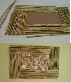 Wall decoration (reeds and shells)