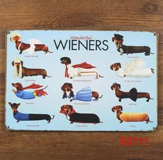 [Visit to Buy] WIENERS Dog Style Vintage Metal Signs Garage Coffee Store Bar Metal Home Decoration Crafts 20x30cm Tin Sign #Advertisement