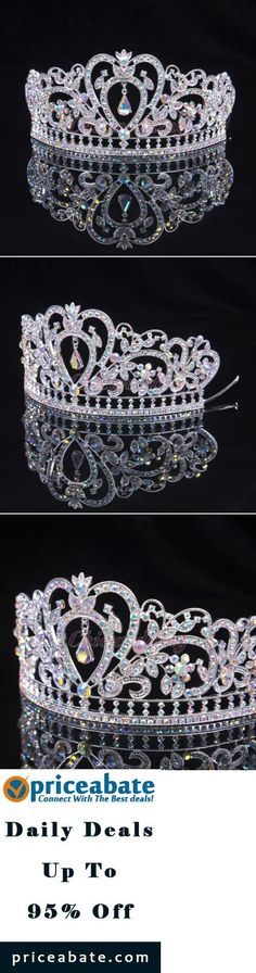 #Priceabate COLORFUL CLEAR AUSTRIAN RHINESTONE CRYSTAL TIARA CROWN BRIDAL PAGEANT HEADPIECE - Buy This Item Now For Only: $12.89: