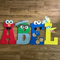 Sesame Street Custom Letters Big Bird Elmo Oscar the