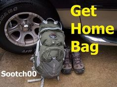 Dad's Get Home Bag - so that he can get home to us! | Mom with a PREP