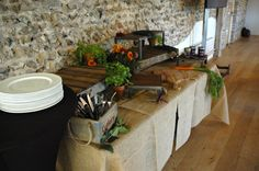 Flint Barn buffet lunch set up in full swing #FlintBarn #Lunchmeeting #TheGranaryBarns