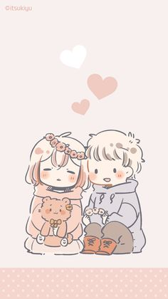 Wall paper iphone nature inspiration phone wallpapers Ideas for 2019 Cute Chibi Couple, Cute Couple Art, Anime Love Couple, Cute Anime Couples, Chibi Couple Base, Cute Couple Drawings, Anime Couples Drawings, Cute Drawings, Chibi Pokemon