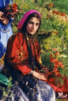 Qashqai woman in traditional costume.  Southern Iran