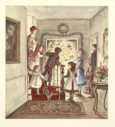 Tasha Tudor illustration....the Christmas Tree.