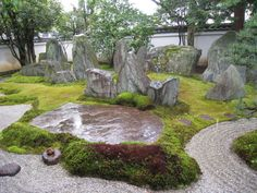 Garden by Mirei Shigemori Japanese Garden Style, Asian Garden, Japanese Landscape, Japanese Gardens, Zen Gardens, House Landscape, Landscape Design, Garden Design, Japanese Aesthetic
