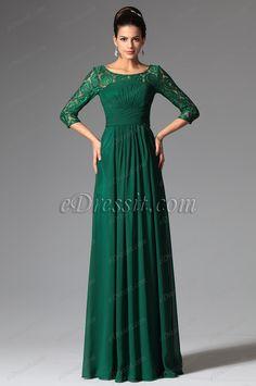 Elegant Lace Sleeves Dark Green Mother of the Bride Dress Green Lace, Green Dress, Winter Dresses, Evening Dresses, Dress Winter, Simple Dresses, Nice Dresses, Winter Wedding Attire, Blue Mermaid Prom Dress