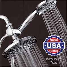 "AquaDance 7"" Premium High Pressure 3-way Rainfall Shower Combo Combines the Best of Both Worlds"