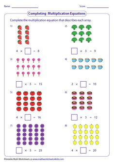 Variety of worksheets based on multiplication models such as equal groups, rectangular arrays, area models and number lines. Teaching Subtraction, Math Multiplication Worksheets, First Grade Math Worksheets, Teaching Math, Decimals Worksheets, Array Worksheets, Printable Math Worksheets, Math Workbook, Homeschool Math