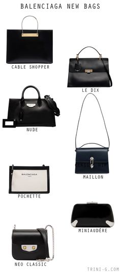 TRINI BLOG - BALENCIAGA NEW BAGS