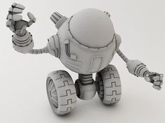 animation robots in 3d | 3D model Robot LP-1230 by AlekRazum