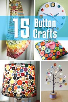 15 Button Crafts, the lamp for the playroom...love