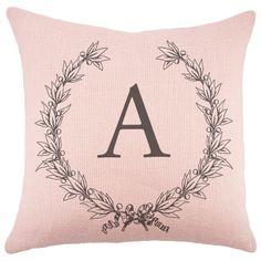 Monogram pillow for rocker