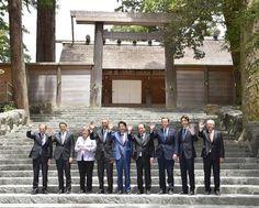 【伊勢志摩サミット】G7首脳が伊勢神宮訪問を称賛「素晴らしい経験をした」「悠久の歴史に感動」 - 産経ニュース