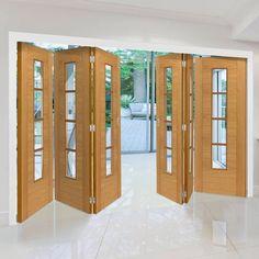 Six Folding Doors & Frame Kit - Bela Oak - Prefinished Oak Doors, Panel Doors, Internal Folding Doors, Architrave, Door Sets, Door Furniture, Types Of Doors, Pocket Doors, Single Doors