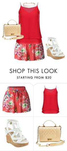 """"""""""" by anacaroline-al ❤ liked on Polyvore featuring LE3NO, GUESS and Humble Chic"""