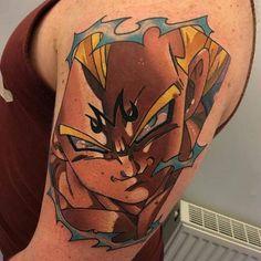 Finished this massive Majin Vegeta tonight. Thanks Dom. This one was fun Artista Tatuador: Dane Grannon Z Tattoo, Body Art Tattoos, Cool Tattoos, Anime Tattoos, Disney Tattoos, Dragon Ball Z, Tatoo Tiger, Vegeta And Bulma, Cute Tats