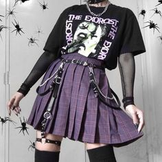 Grunge Outfits, Retro Outfits, Mode Outfits, Cute Casual Outfits, Girl Outfits, Pastel Goth Outfits, Mode Emo, Mode Hipster, Aesthetic Grunge Outfit