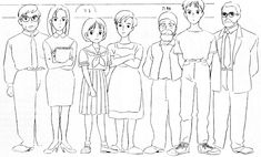 Flooby Nooby: The Art of Studio Ghibli - Part 7 Hayao Miyazaki, Yoshifumi Kondo, Art Studio Ghibli, Studio Ghibli Characters, Ghibli Movies, Character Sheet, Character Design References, Sketch Design, Art Studies