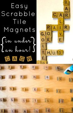 How-to: Easy Scrabble Tile Magnets